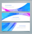 abstract wavy banners and headers set vector image vector image
