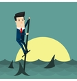 Among Sharks Business concept cartoon vector image vector image