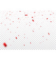 beautiful red confetti isolated on transparent vector image vector image