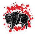 big buffalo bison graphic vector image vector image