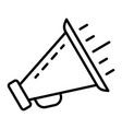 bullhorn icon outline style vector image vector image
