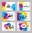 Calligraphic header and banner set happy holi vector image