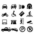 car park parking area sign symbol pictograph icon vector image vector image