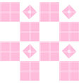 Chessboard Pink Background vector image vector image
