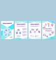 child safety brochure template vector image