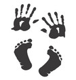children s handprint and footprint vector image vector image