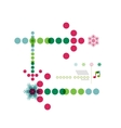 Christmas geometric shape minimal design vector image vector image