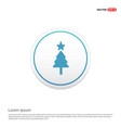 christmas tree icon hexa white background icon vector image
