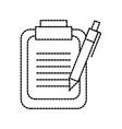 clipboard and pen checklist report information vector image