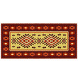 colorful oriental mosaic rug with traditional folk vector image