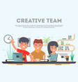 creative team of business people in office vector image