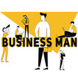 creative word concept business man and people vector image