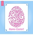 Easter flowers egg background vector image vector image