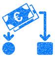 euro cash flow grunge icon vector image vector image