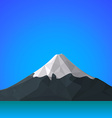 Flat abstract polygonal Fuji mountain icon