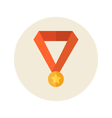 Flat medal icon vector image vector image