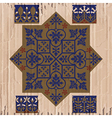 Floriated ornament - pattern vector image