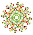 folk ornament with strawberries vector image vector image