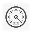 gauge meter icon on white vector image