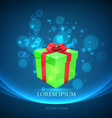 gift box with magic particles background vector image vector image