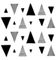 hand draw triangle geometric seamless pattern vector image vector image