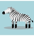 Happy cartoon zebra vector image vector image