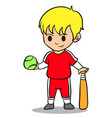 happy kid character style character vector image