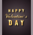 happy valentines day golden glitter sparkle on vector image