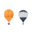 Hot air balloon icons set summer