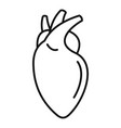 human heart icon outline style vector image vector image