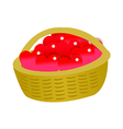 icon basket and heart shape vector image vector image