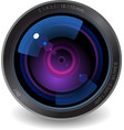 Icon for camera lens vector image