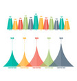 infographics elements triangle bar chart vector image vector image