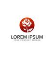 landscaping flower logo design concept template vector image vector image