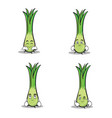 leek character cartoon set collection vector image vector image
