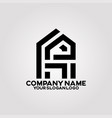logo house letter h and p 02 vector image