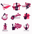 manicure and nail studio polish or varnish in vector image vector image