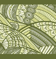 pattern in doodle style vector image