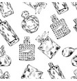 perfume fashion seamless pattern vector image vector image