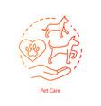 pet vet clinic concept icon domestic animals