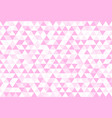 pink love colorful abstract triangles retro paper vector image vector image