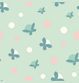 polka dots and butterflies seamless pattern vector image vector image