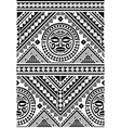 polynesian seamless geometric pattern vector image vector image