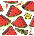 pop art style watermelon seamless pattern vector image