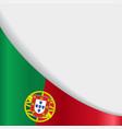 portuguese flag background vector image