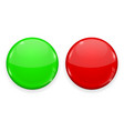red and green web button isolated on white vector image vector image