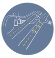 road markings junction vector image