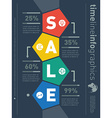 Sale infographic timeline Web Template for diagram vector image vector image