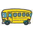 schoolbus vector image vector image