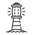 sea lighthouse icon outline style vector image vector image